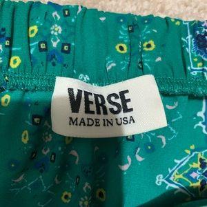 verse Tops - Green Off Shoulder Top XS